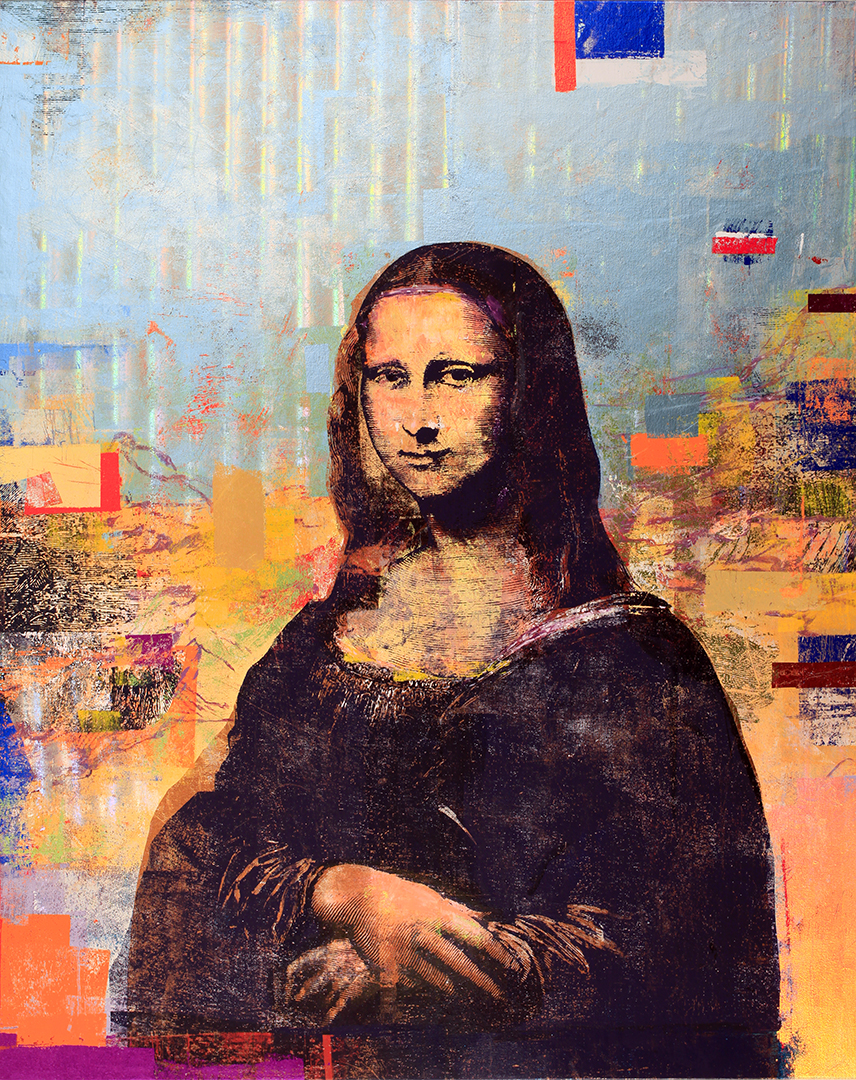 2 Colones, Mona Lisa, 60 by 48,  2018