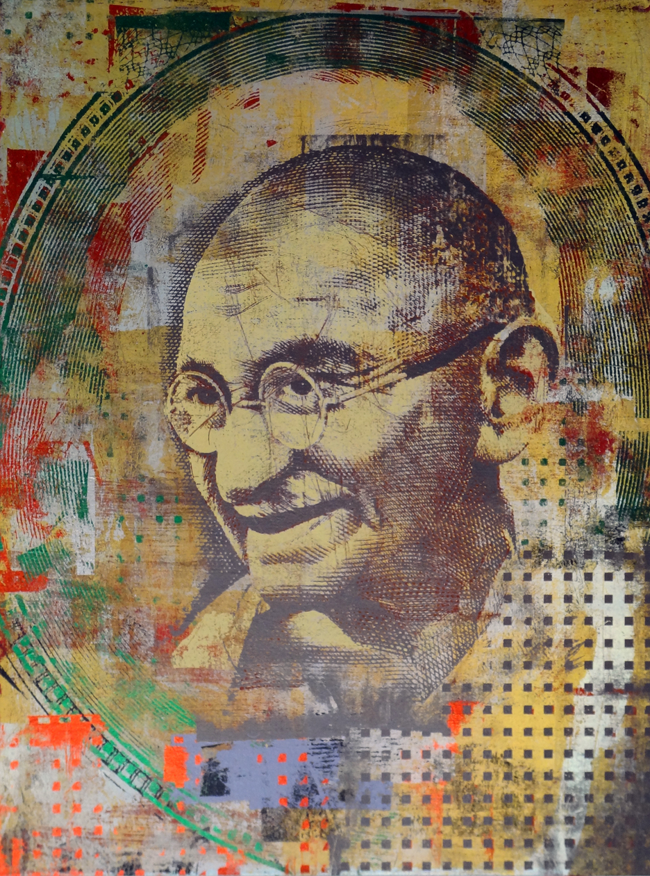 1000 Rupees India Gandhi 40 by 30 14
