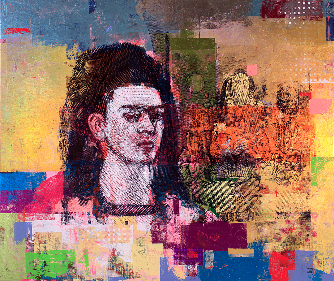 500 Pesos Frida Kahlo Diego 54 by 64 2017