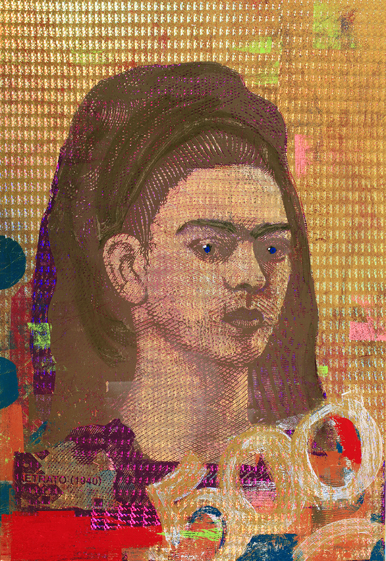 500 Pessos Frida Kahlo 48 by 36 2019