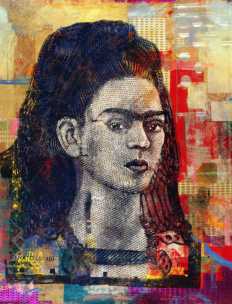 500-Peso Frida Kahlo 60 by 48 2020