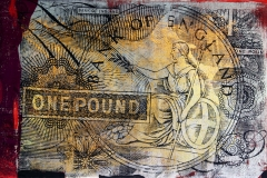 One Pound Bank of England,24 by 36