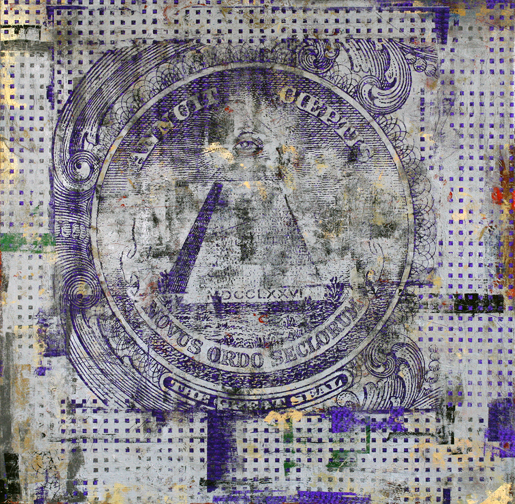 1 Dollar, Eye of the Providence,  48  by 48,  2014