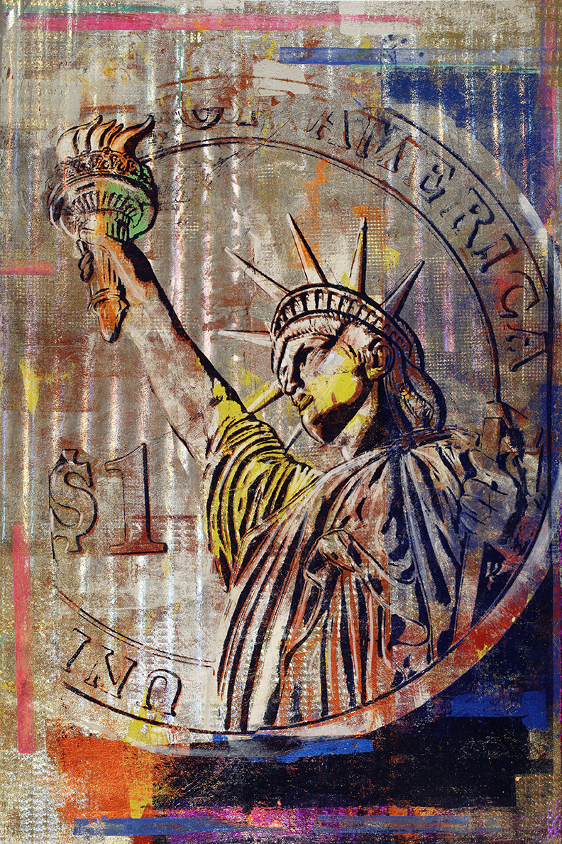 1 Dollar coin, Statue of Liberty, 60 by 40, 2020