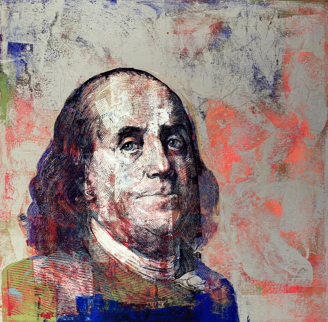 100 Dolllar Franklin 48 by 48 2016