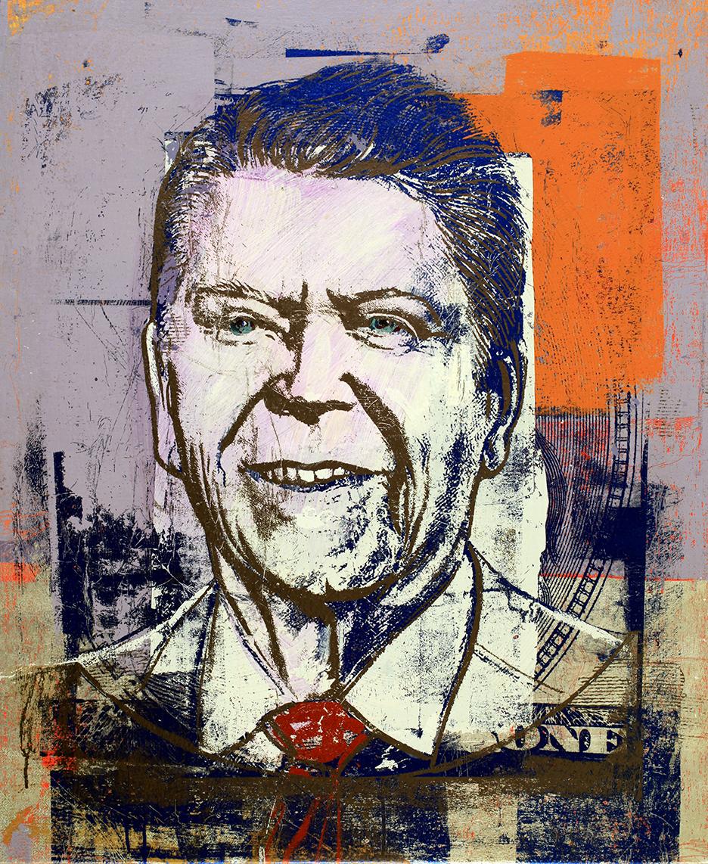 "1 Dollar Ronald Reagan, 36 by 26"" 2017"
