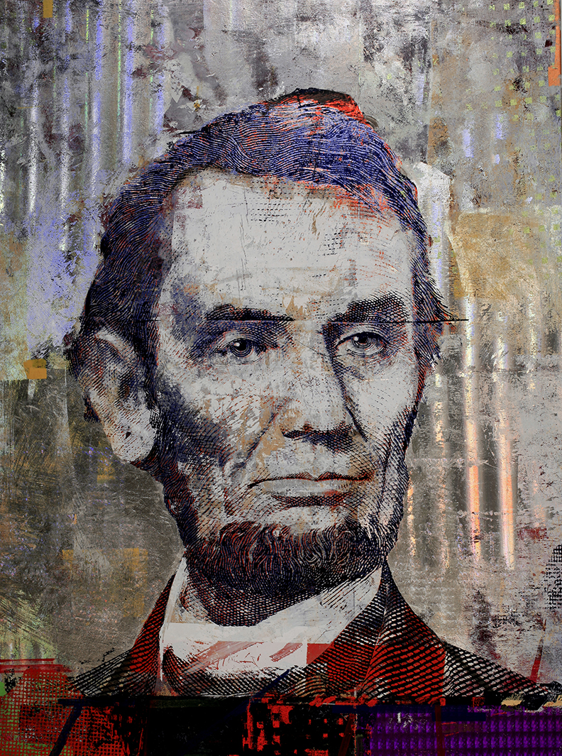 5 Dollars,  Abraham Lincoln,  48 by 36, 2019