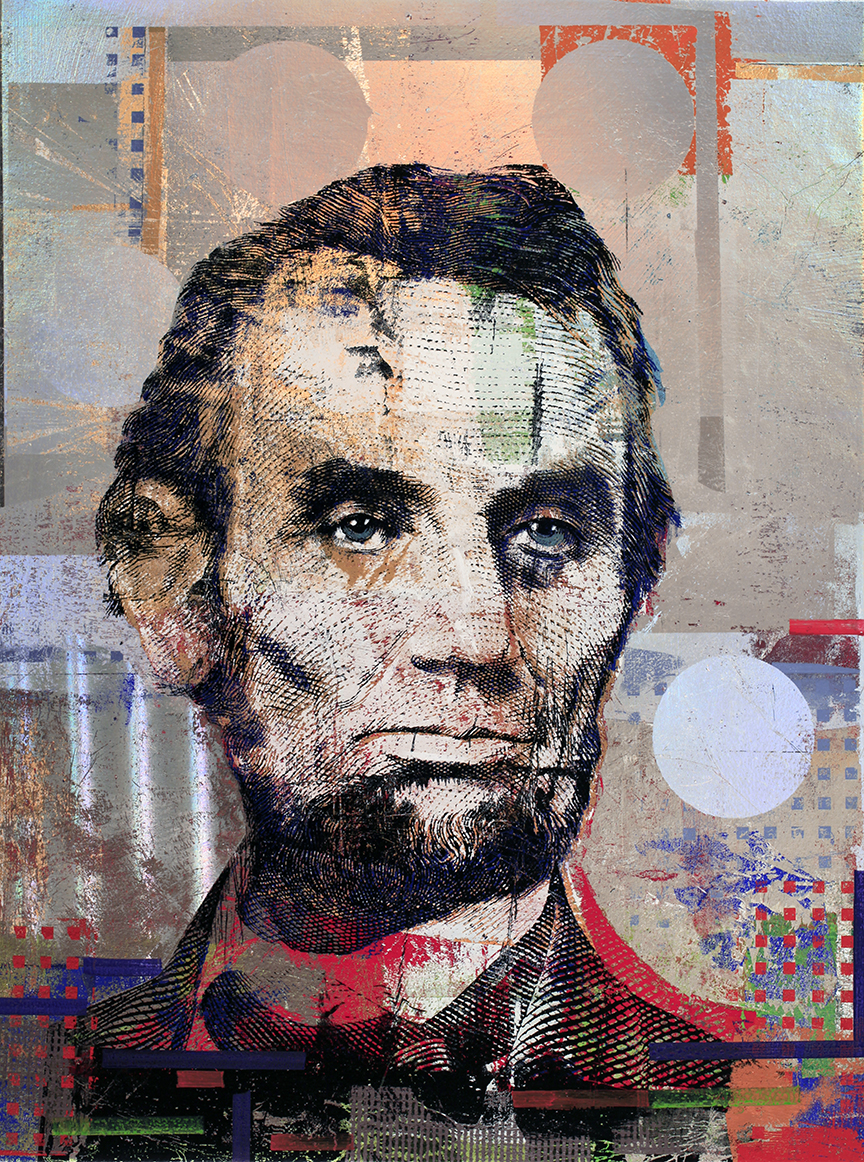 5 Dollars, Abraham Lincoln 40 by 30, 2018