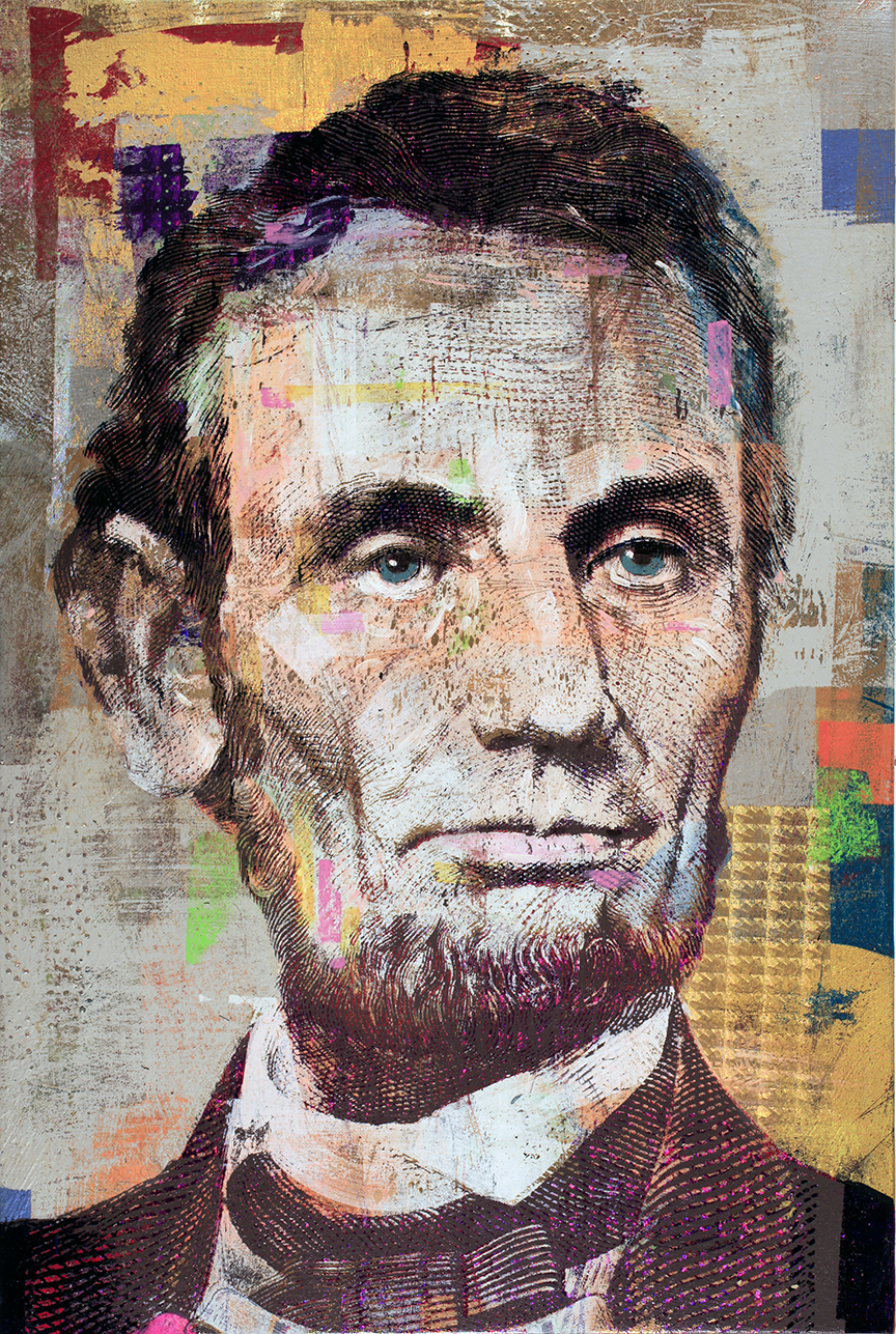 5 Dollars, Abraham Lincoln, 40 by 30, 2019