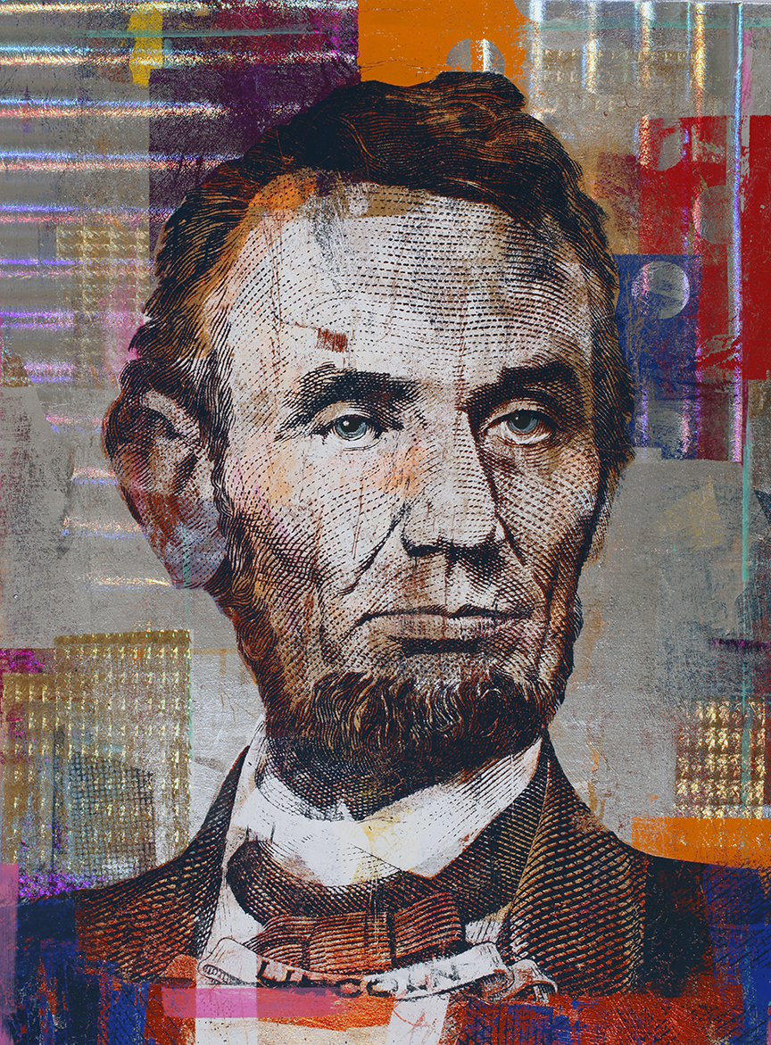 5 Dollars,  Abraham Lincoln,  40 by 30, 2020