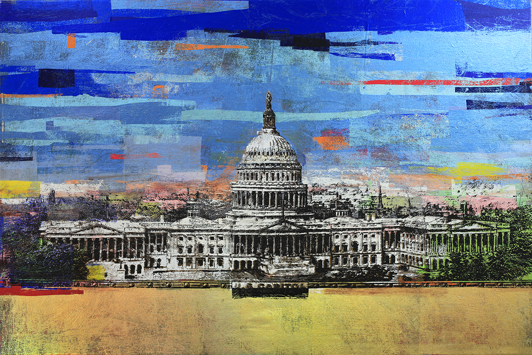 50Dollars, US Capitol, 40 by 60, 2017