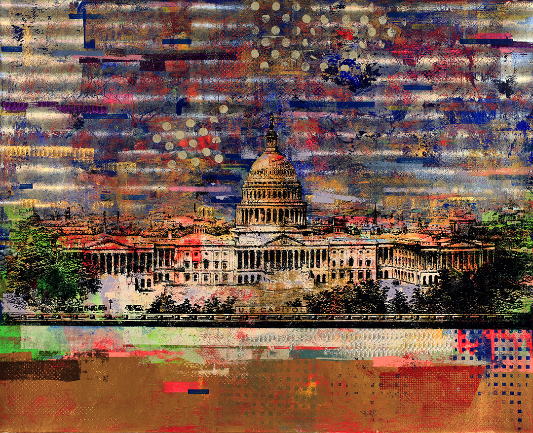 50 Dollars, US Capitol 48 by 60, 2019