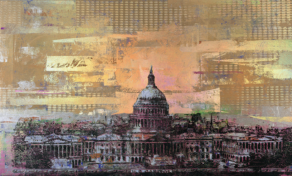 50 Dollars, US Capitol, 36 by 60,  2019