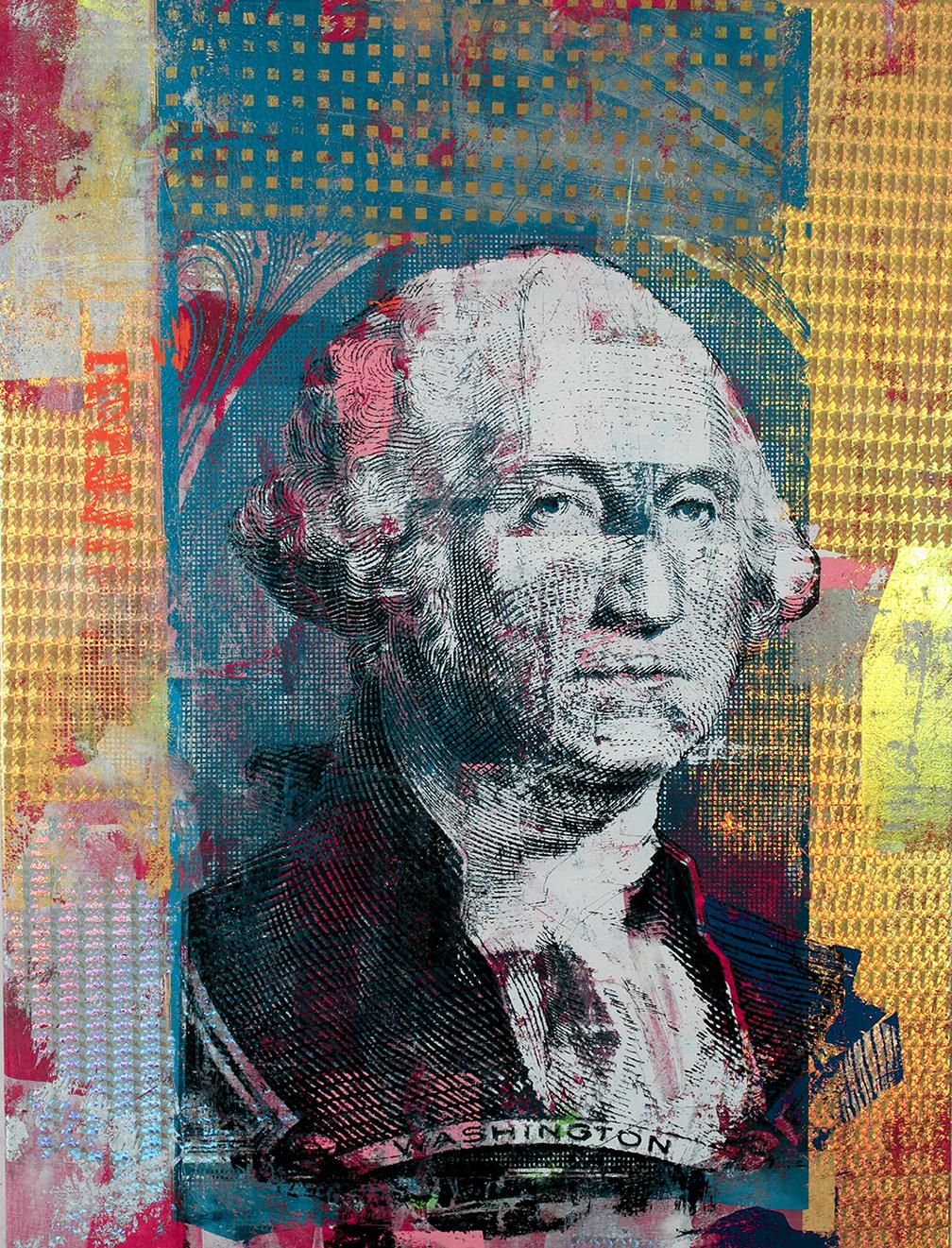 one Dollar George Washington 48 by 36 2017